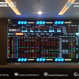 Lap dat man hinh LED P2 indoor tai San Chung Khoan FLC