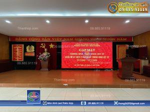 THI CONG LAP DAT MAN HINH LED P2.5 TAI CONG AN QUAN HOANG MAI